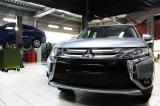 Оклейка Mitsubishi Outlander 2018 года полиуретановой защитной пленкой
