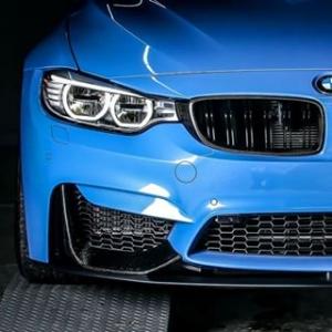 AutoTecknic BM-0017 Накладки переднего бампера Performance для BMW F80 M3 и F82 M4 (карбон)