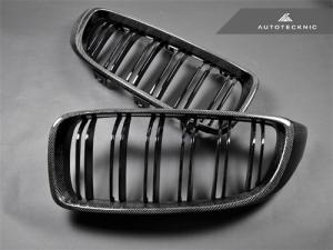 AutoTecknic BM-0175-DS-CF Решетки радиатора Dual-Slats для BMW F32, F36, F80 M3, F82 M4 (карбон)